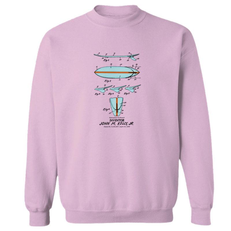Surfboard-Kelly Crewneck Sweatshirt LIGHT PINK