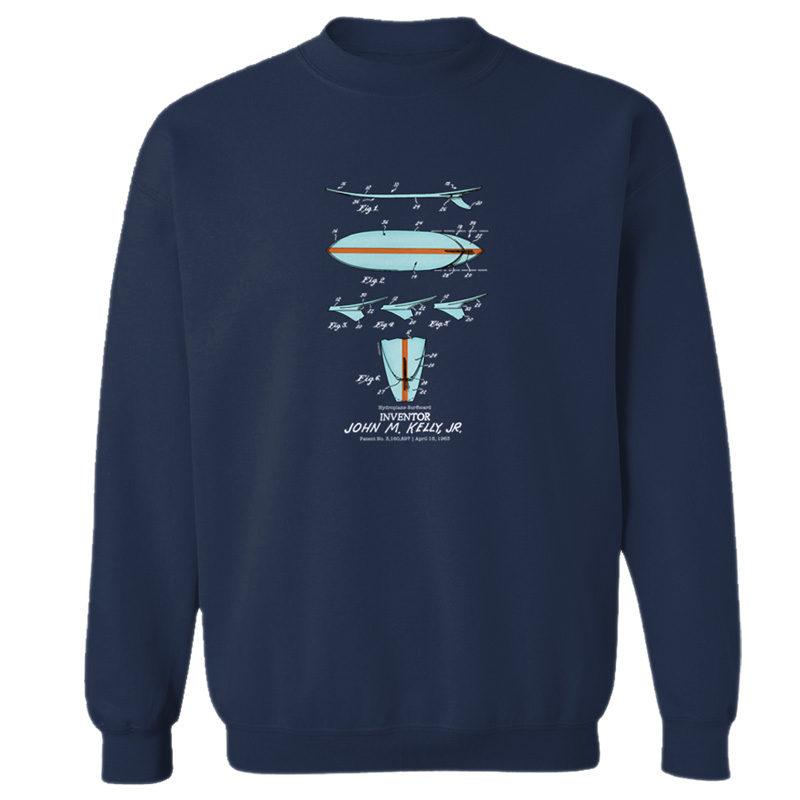 Surfboard-Kelly Crewneck Sweatshirt NAVY