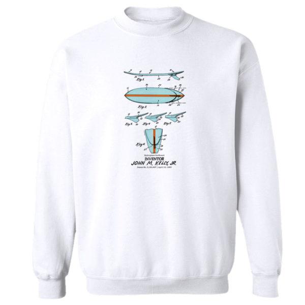 Surfboard-Kelly Crewneck Sweatshirt WHITE