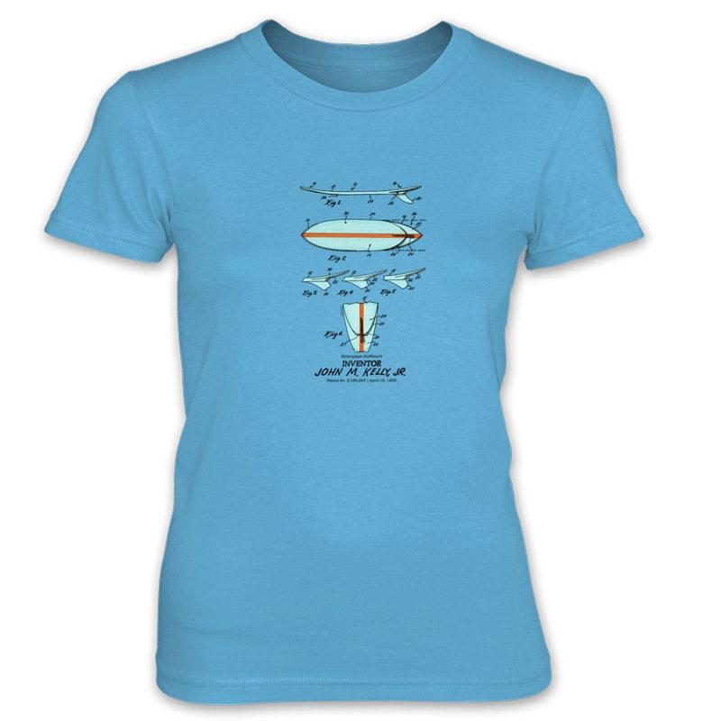 Surfboard-Kelly Women's T-Shirt CARIBBEAN BLUE
