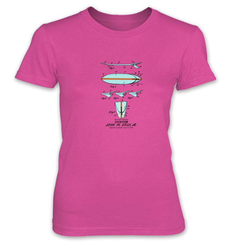 Surfboard-Kelly Women's T-Shirt HOT PINK