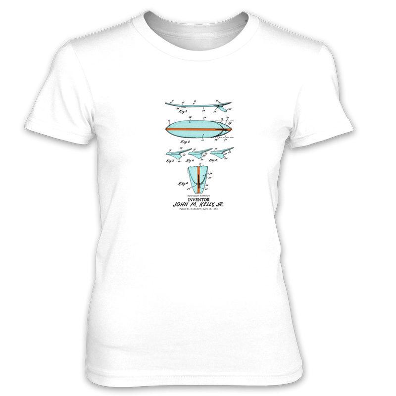 Surfboard-Kelly Women's T-Shirt WHITE