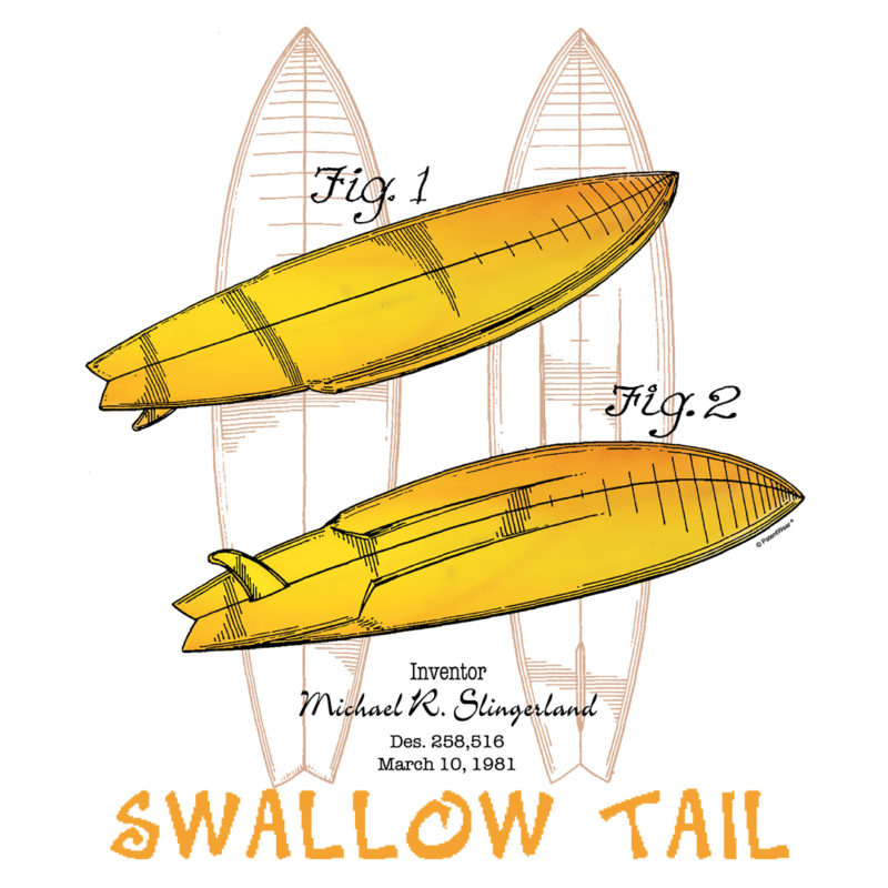 Surfboard-Swallow Tail Design