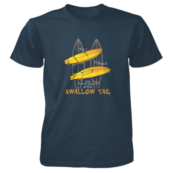 Surfboard-Swallow Tail T-Shirt BLUE DUSK