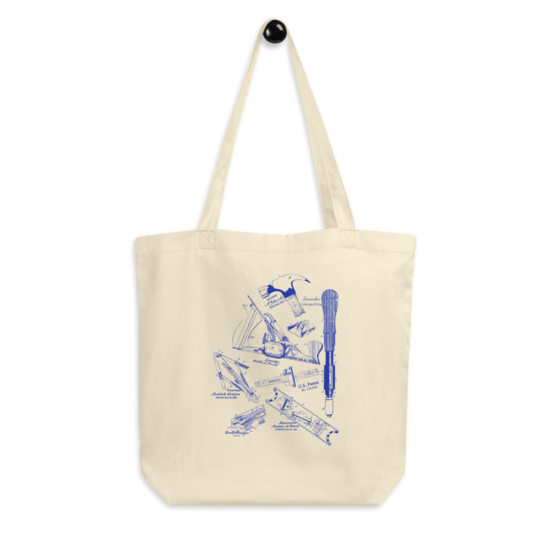 Tools MS-Lineart Tote Bag hanging