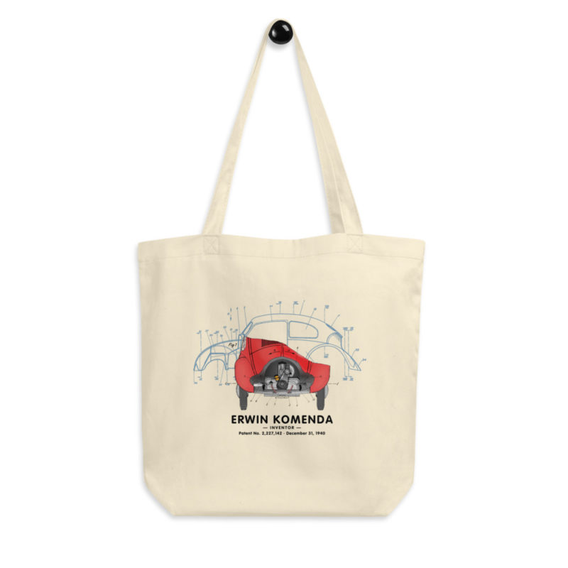 Vee Dub Bug Tote Bag hanging