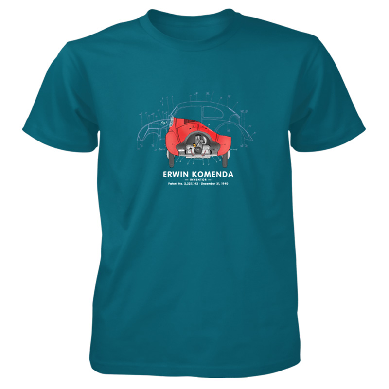 Vee Dub Bug T-Shirt GALAPAGOS BLUE