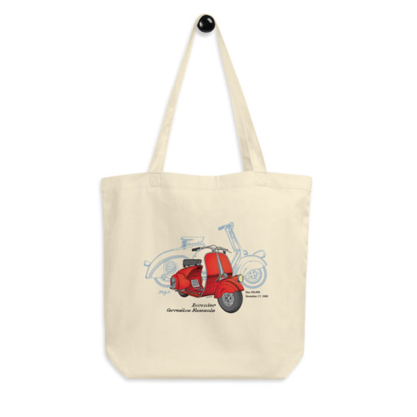 Wasp (Vespa) Tote Bag hanging
