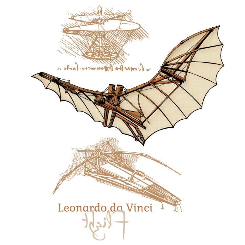 da Vinci Flight Design on Lights