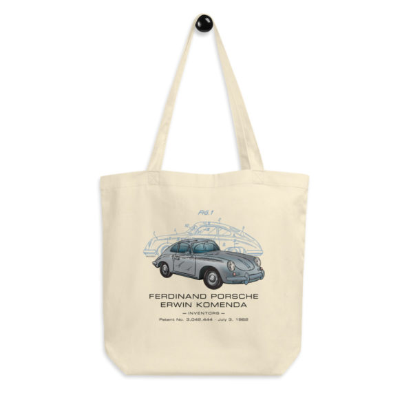 Porsche 356 Patent Tote Bag hanging