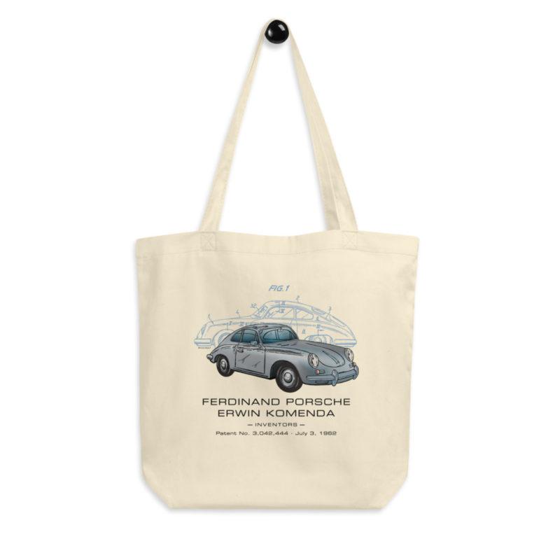Porsche 356 Patent Tote Bag hanging