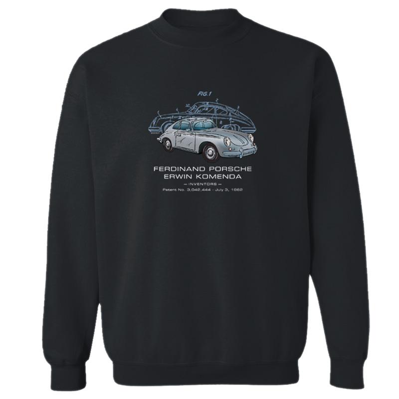 Porsche 356 Patent Crewneck Sweatshirt Patentwear