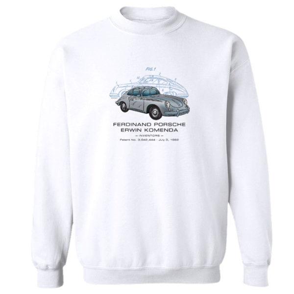 Porsche 356 Crewneck Sweatshirt WHITE