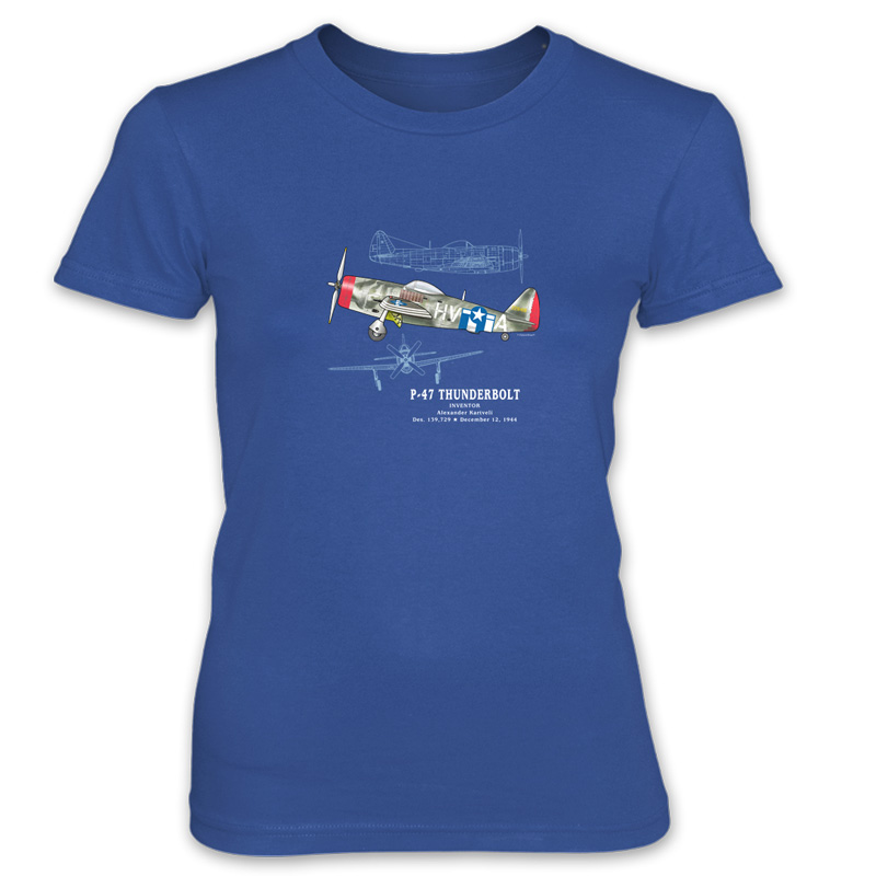 P-47 Thunderbolt Women's T-Shirt ROYAL BLUE