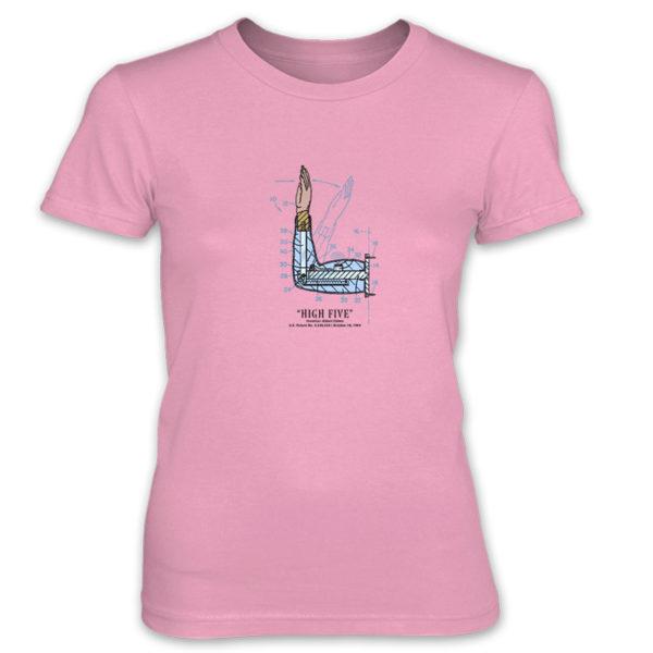 High Five Women's T-Shirt CHARITY PINK