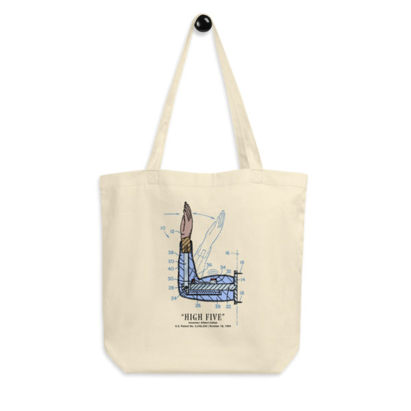 High Five Tote Bag hanging