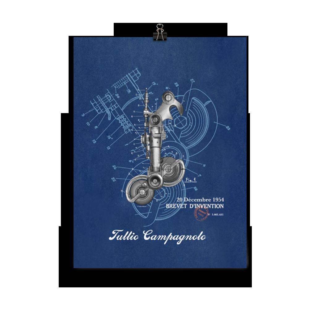 Derailleur-Campagnolo Unframed Print 12 x 16