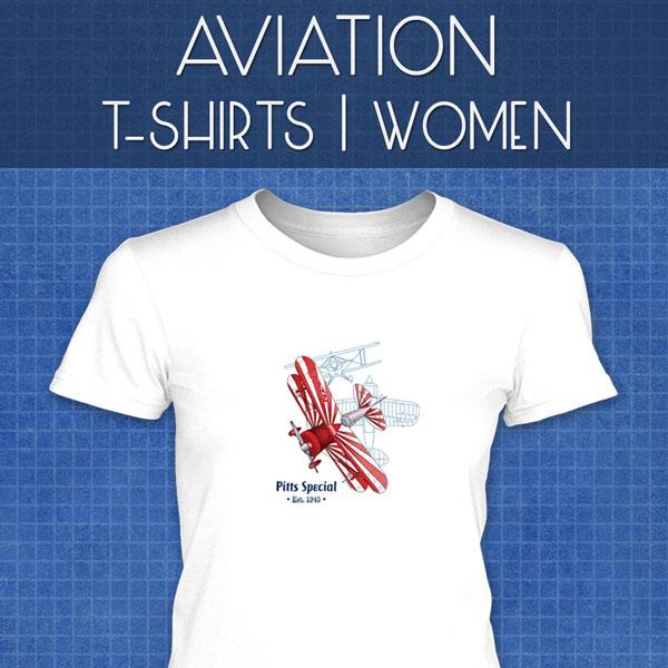 Aviation T-Shirts | Women
