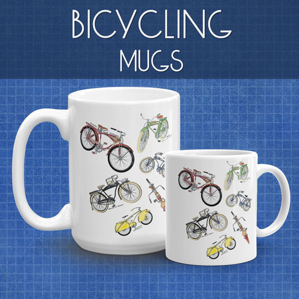 Bicycling Mugs