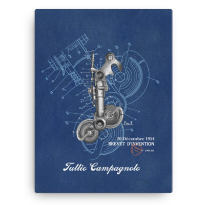 Derailleur-Campagnolo Wall Art Canvas 12x16