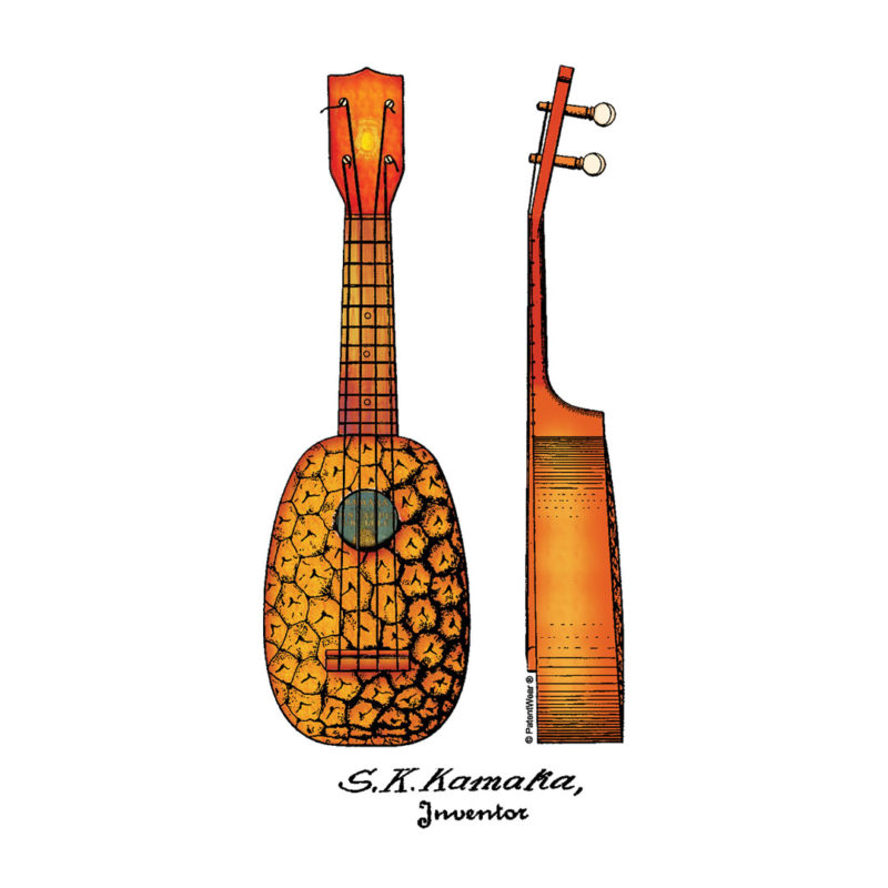 Pineapple Ukulele Patent Design