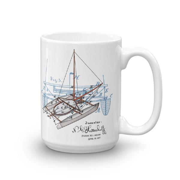 Herreshoff Catamaran 15oz Mug