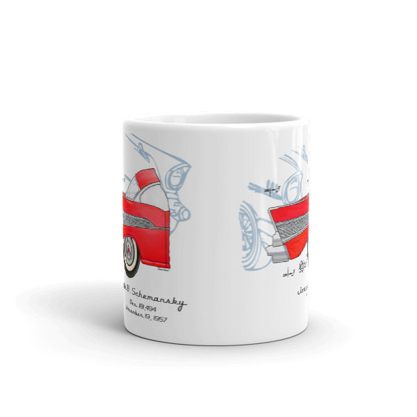 57 Chevy 11oz Mug FRONT VIEW