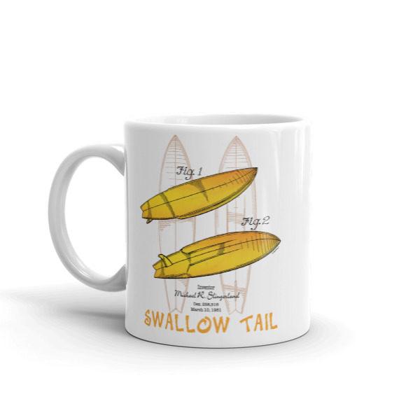 Surfboard Swallow Tail 11oz Mug