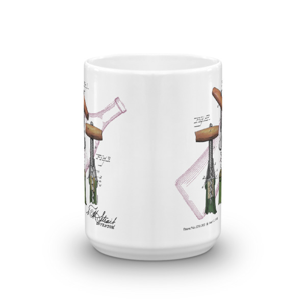 Corkscrew-Strait 15oz Mug FRONT VIEW