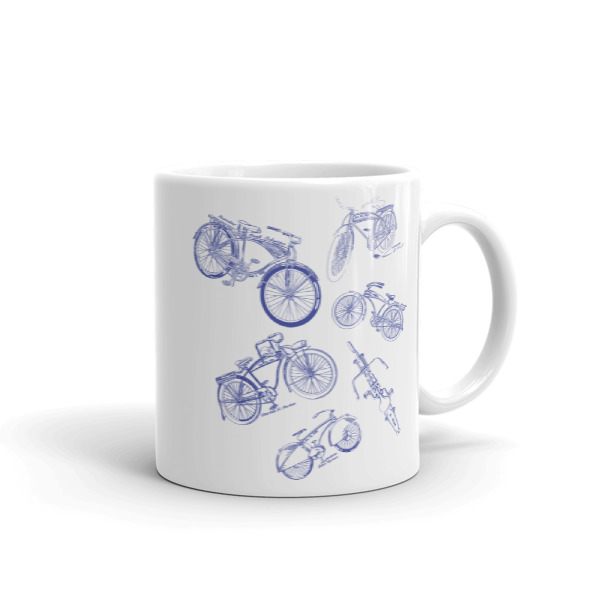 Bicycles MS-Lineart 11oz Mug