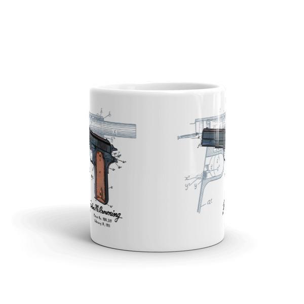Browning Model 1911 11oz Mug FRONT VIEW