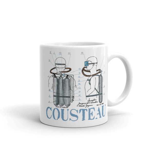 Cousteau Aqualung 11oz Mug