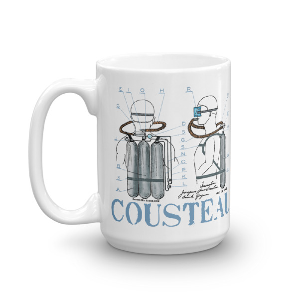Cousteau Aqualung 15oz Mug