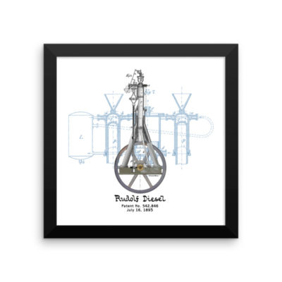 Diesel Engine Wall Art 1 Framed 10x10