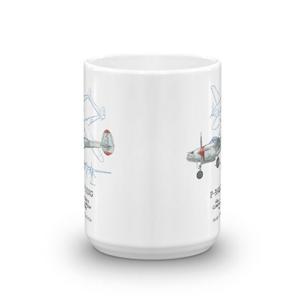P-38 Lightning 15oz Mug FRONT VIEW
