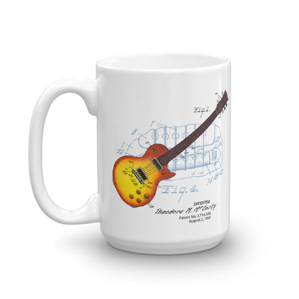 Sunburst Guitar 15oz Mug