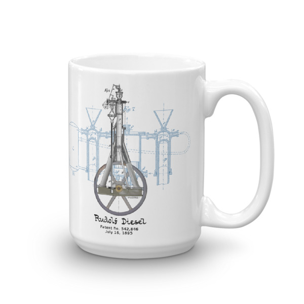 Diesel Engine 15oz Mug