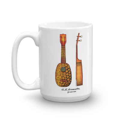Pineapple Ukulele Mug 15oz
