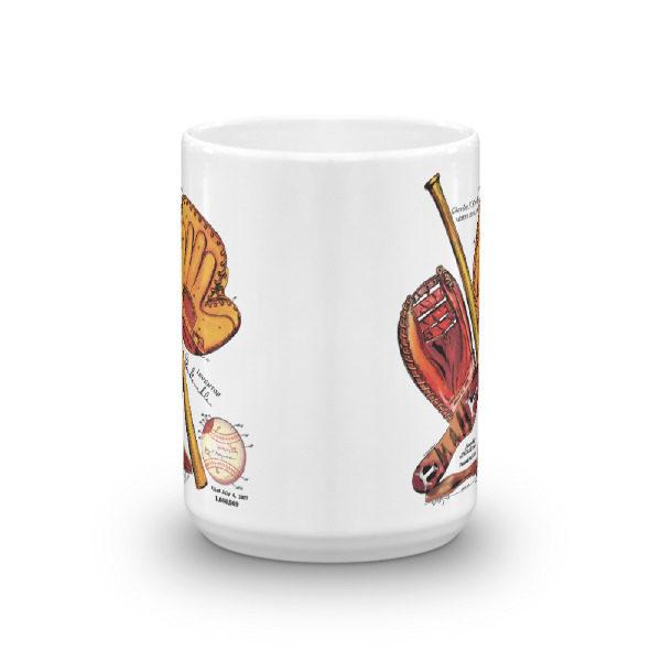 Baseball MS-Color 15oz Mug FRONT VIEW