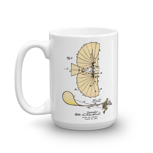 Lilienthal Glider 15oz Mug