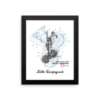 Derailleur-Campagnolo Patent Wall Art 1 Framed