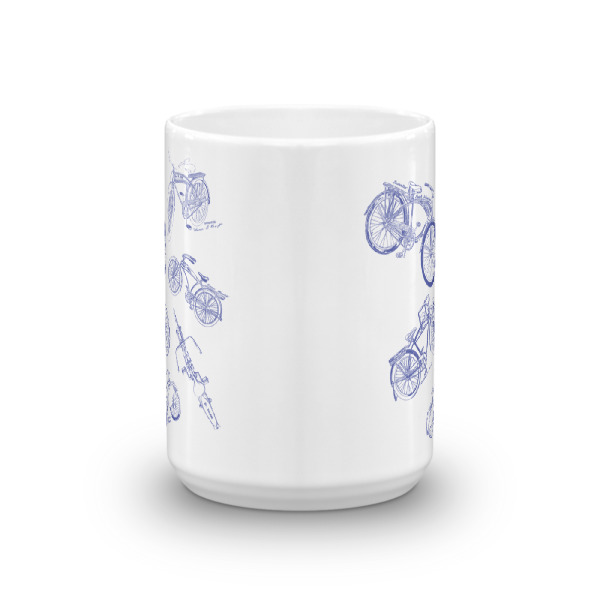 Bicycles MS-Lineart 15oz Mug FRONT VIEW