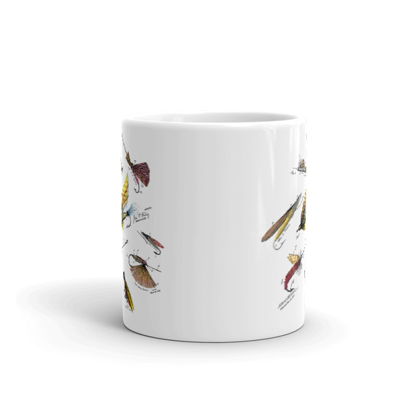 Fly Fishing Flies MS-Color 11oz Mug FRONT VIEW