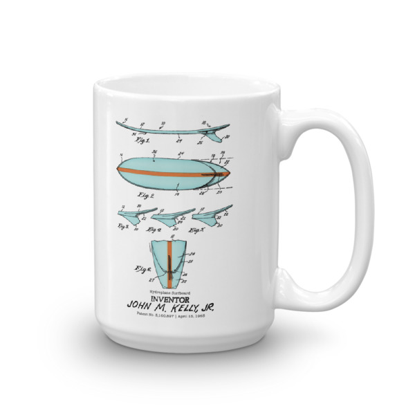Surfboard-Kelly 15oz Mug