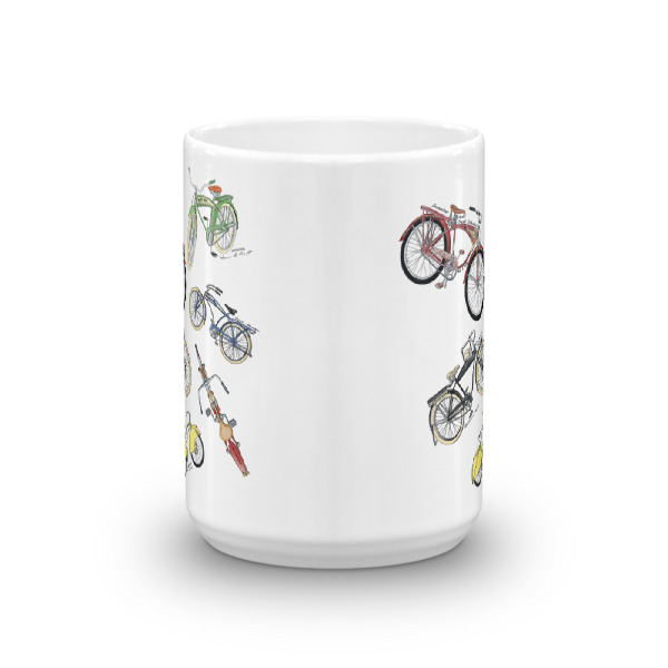 Bicycles MS-Color 15oz Mug FRONT VIEW