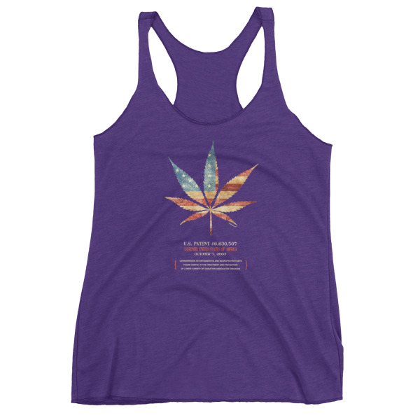 Cannabis 507 Women's Racerback Tank PURPLE RUSH