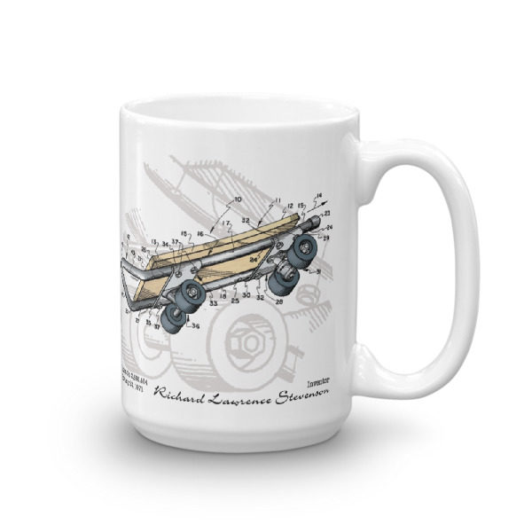 Skateboard-Kicktail 15oz Mugs