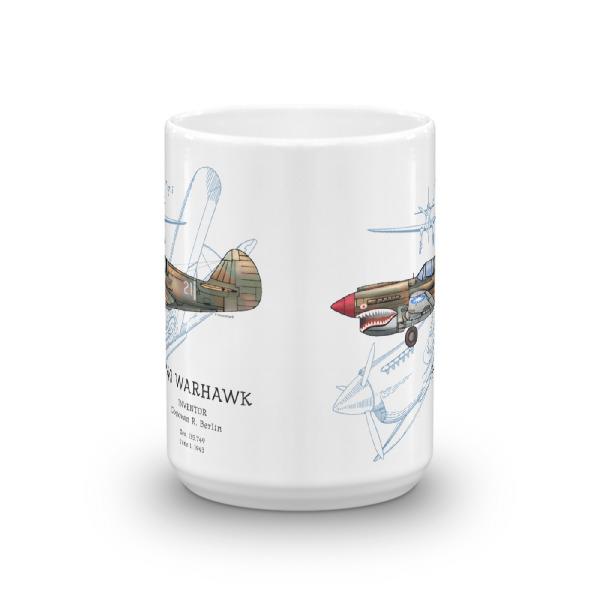 P-40 Warhawk 15oz Mug FRONT VIEW