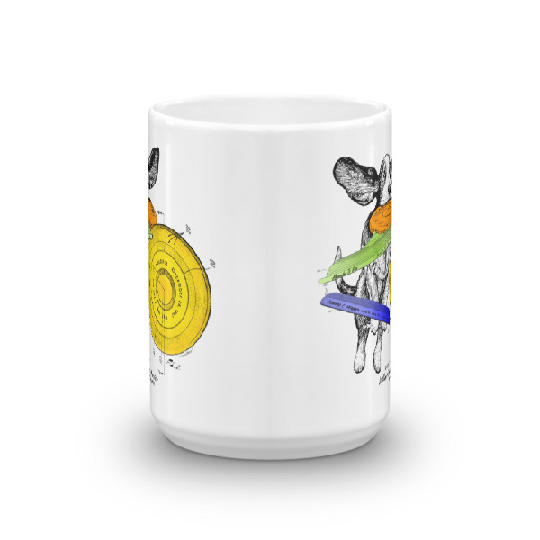 Flying Disc 15oz Mug FRONT VIEW