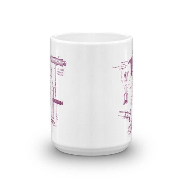 Corkscrew MS-Lineart 15oz Mug FRONT VIEW